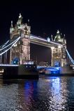 Tower Bridge at night, London UK royalty free stock image