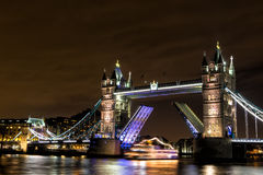 Tower Bridge at night, London Royalty Free Stock Photos