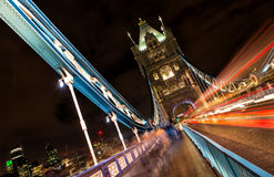 Tower Bridge at night, London, United Kingdom Stock Photos