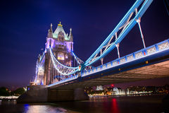 Tower Bridge by night. Tower Bridge in London night view royalty free stock image