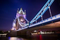 Tower Bridge by night royalty free stock image