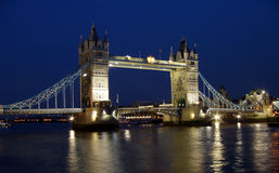 Tower bridge night shot Royalty Free Stock Photos