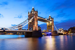 Tower Bridge at night twilight London Royalty Free Stock Image