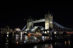 Tower Bridge. Night view of Tower Bridge in London Stock Image