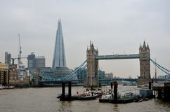 Tower Bridge from North Bank Stock Photos