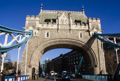 Tower Bridge Northern End Royalty Free Stock Images