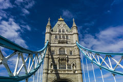 Tower Bridge. One of the most famous landmarks in London.  The Tower Bridge Royalty Free Stock Photos