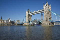 Tower Bridge Open Stock Photo