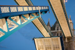 Tower Bridge open Stock Photography