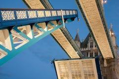 Tower Bridge open Stock Photography