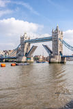 Tower bridge open Royalty Free Stock Photos