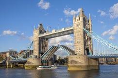 Tower Bridge Open Stock Image