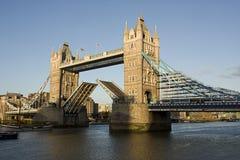 Tower bridge opening Stock Images