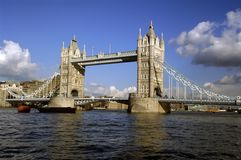 Tower Bridge over the River Thames Stock Photo
