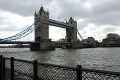 Tower Bridge. Over the river Thames Royalty Free Stock Photo