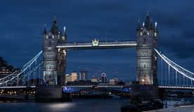 Tower Bridge over the River Thames stock photos