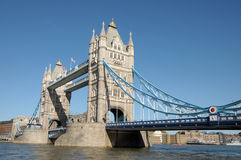 Tower Bridge over River Thames Royalty Free Stock Photos