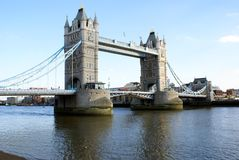 Tower Bridge over The River Thames in London, England Royalty Free Stock Photos