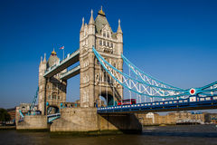 Tower Bridge over River Thames, London, England Stock Image