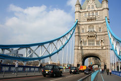 Tower Bridge over River Thames in London, England Stock Images