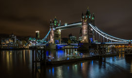 Tower Bridge over the River Thames in London Royalty Free Stock Photo