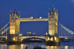 Tower Bridge over the River Thames in London. Royalty Free Stock Photos