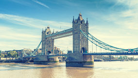 Tower Bridge over the River Thames, London, UK, England Royalty Free Stock Images