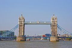 Tower Bridge over River Thames in London Royalty Free Stock Images
