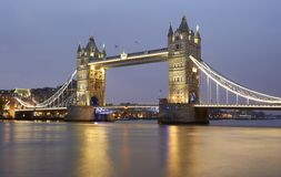 Tower Bridge over the Thames stock image