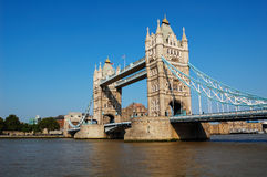 Tower Bridge over Thames River. The Tower Bridge over the Thames River in Europe Stock Photo