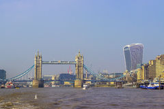 Tower Bridge over Thames river Stock Photo