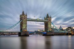The Tower Bridge over the Thames River in London Royalty Free Stock Photos