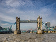 Tower bridge panorama in London seen from river Thames Stock Image