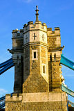 Tower bridge pillar Stock Image