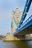 Tower Bridge in Portrait aspect. From south Royalty Free Stock Photography