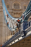 Tower Bridge Repair Work - London Stock Images