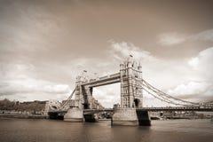 Tower Bridge retro Stock Photo