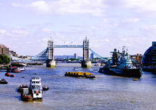 Tower Bridge and River Thames. Are popular tourist attractions n London Stock Photo