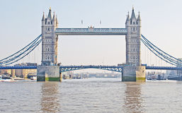 Tower Bridge from the River Thames Stock Photos