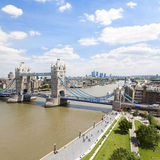 Tower Bridge and River Thames Royalty Free Stock Photos