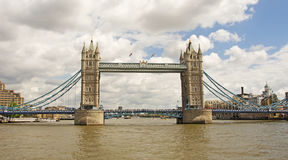Tower Bridge from the River Thames Stock Images
