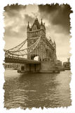Tower Bridge. On the River Thames in London Stock Photo