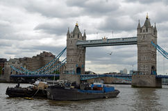 Tower Bridge on the river Thames, London. Stock Photography