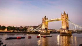 Tower Bridge and the River Thames, London. royalty free stock image
