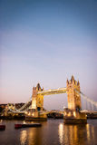 Tower Bridge and the River Thames, London. stock photo