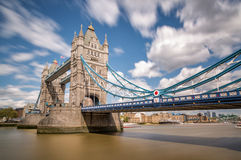 Tower Bridge and river Thames in London Stock Images