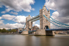 Tower Bridge and river Thames in London Royalty Free Stock Images