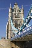 Tower Bridge on River Thames, London, UK Royalty Free Stock Images