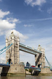 Tower Bridge, River Thames, London, UK, city view, vertical, copy space Stock Photos