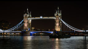 Tower Bridge on River Thames London UK  at night Stock Image